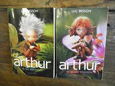 Lot  2 livres de Luc Besson Arthur et les minimoys  Arthur et la cité interdite