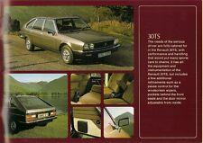 Renault 20 & 30 1977-78 UK Market Sales Brochure TL TS