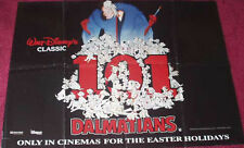 Cinema Poster: 101 DALMATIANS 1961 (Rerelease Quad) Rod Taylor Dodie Smith