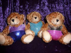 """Soft 6"""" TEDDY bear in a choice of gymnastic LEOTARDS"""