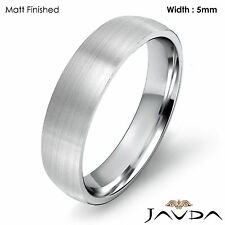 5mm Light Weight Comfort Platinum Men Wedding Band Dome Classic Ring 9.4g 9-9.75