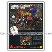 PUB SUZUKI TS 125 TS125 125TS - Original Advert / Publicité Moto de 1978