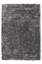 Teppich Hochflor Shaggy Weich Wohnzimmer Handgefertigt Grau Weiß 160x230cm