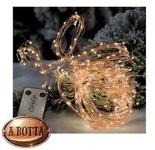 Luci di Natale Cascata 300 Micro LED da ESTERNO Luce GIALLA con 8 Giochi Luce