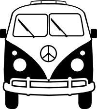 """ADESIVO STICKERS DECAL """"BUS HIPPIE"""" MOTO AUTO ANNI 70 PRESPAZIATO DECAL AUTOBUS"""