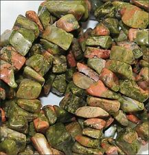 Natural Unakite Semi-Precious Stone Chip Beads (16