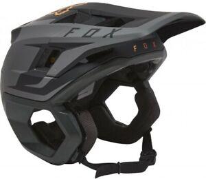 Fox Dropframe Pro Helmet Sideswipe Black/Gold - Enduro Open Face Mountain Bike