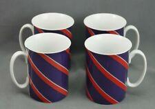 Block Spal Regimental Stripes Portugal Mugs Set 4 Red Blue
