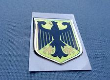 0107) 3D Embleme Sticker 50/40mm Silikon Aufkleber Deutschland Adler Wappen Bund