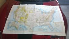1966 Rand McNally United States Recreational Map, very large 53x35