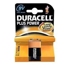 2 x Duracell 9V Plus Power 9 V Block Smoke Alarm Alkaline Battery (mn1604/6lr61)