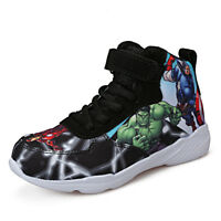 Boys Kids High Top Outdoor Canvas Shoes Children's Sports Running Casual Sneaker