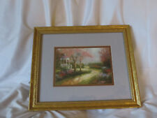 Thomas Kinkade gold framed accent print gazebo scene by Lightpost Publishing