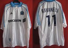 Maillot Olympique Marseille Adidas Ravanelli Ericsson Blanc OM Vintage - XL