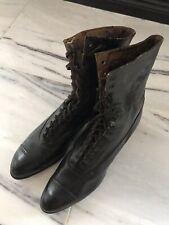 "Black Victorian Era Boots Vintage Antique ""witch�"