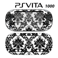 Vinyl Decal Skin Sticker for Sony PS Vita PSV 1000 Black & White Damask