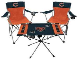 Chicago Bears  3 Piece Tailgate Kit - 2 Chairs - 1 Table