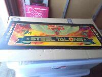 atari steel talons arcade marquee part