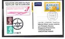 ATM PRIVATGANZSACHE SINGAPORE AIRLINES AIRBUS A380 ERSTFLUG LONDON - SINGAPUR