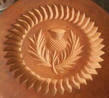 LONDON DESIGN CENTRE antique scottish thistle mold cookie butter vtg wood art