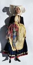 Vintage doll in folk costume - handwork from Dubrovnik Konavle Croatia