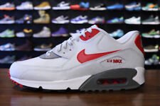 Nike Air Max 90 Essential Shoes (9) Light Grey / Red