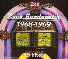 Zvuk sezdesetih 2 CD 1968 - 1969 Croatia CROATIE HRVATSKA 49 hitova stari pjer