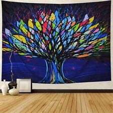 Psychedelic Colorful Tree Tapestry Wall Hanging Blanket Room Wall Tapestry Decor