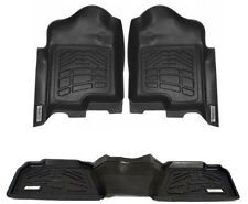 Black Floor Mats 1st and 2nd Row COMBO 2009 - 2012 Dodge Ram Quad Cab