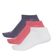 Adidas Women Socks Training Performance No-Show Thin Sock 3 Pairs New CF7372