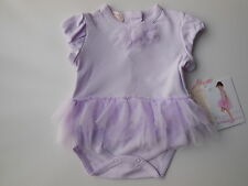 New baby girl Biscotti lilac tutu romper clothes size 000 Fits 3 mths Defect