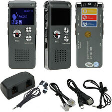 8GB Digital Audio Voice Recorder Dictaphone Telephone MP3 Player Rechargeable