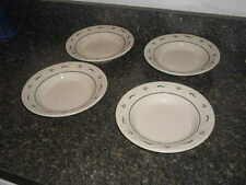 "Longaberger Pottery Set of 4 Heritage Green Woven Tradition 8"" Soup/Salad Bowl"