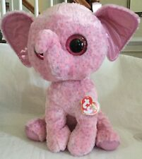 """Ty Beanie Boo Boos Ellie Elephant Jumbo 17"""" Extra Large Justice Exclusive  Pink 4056cae1315b"""
