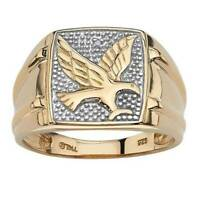 Luxury Gold Men's Rock Punk Eagle Ring Cool Party Band Jewelry Boyfriend Gift
