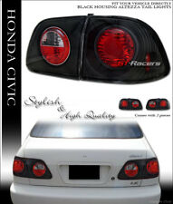 For 1999-2000 Civic 4 Door Sedan Jdm Black Sport Altezza Tail Lights Lamps 4Pc