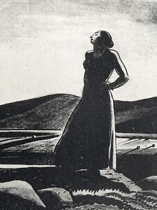 """Rockwell Kent signed lithograph """"Revisitation"""" 1928"""