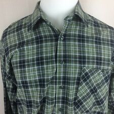 AUZINGER Mens Size EU 41 US Large Long Sleeve Button Front Shirt Plaid Flannel