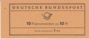 Bund  Markenheftchen  MH 6  mit 10 x 183 y  **