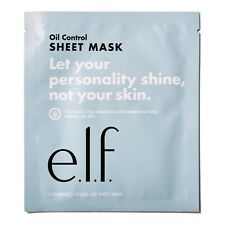 E.L.F OIL CONTROL SHEET MASK - WITH KAOLIN CLAY MATTIFYING MATTE FACE MASK