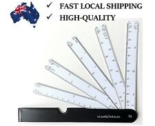 Brand New Foldable Fan Scale Ruler Drawing Measuring Tool