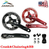 170mm Crank Set 104BCD MTB Bike Crankset Narrow Wide Chainring Bottom Bracket BB