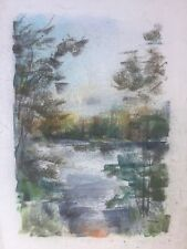 Franz Ehmke 1928-2018 GDR Painter° Lake Waters Forest Nature Botany Landscapes