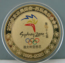 2000 Sydneys Olympic Commemorate Gold Colour Badge Coin