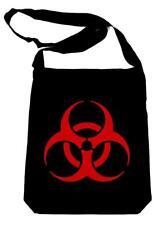 Red Bio-Hazard Radiation Crossbody Sling Bag School Cyber Goth Industrial Zombie