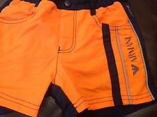 NWT ARMANI JUNIOR BOYS SWIM TRUNKS COLOR BLOCK SHORTS SIZE 8 $130 GIFT ORANGE