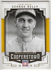 GEORGE KELLY 2015 Panini Cooperstown Gold Parallel #/5 #41 Giants N15