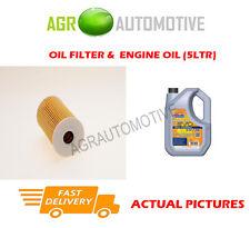 DIESEL OIL FILTER + LL 5W30 ENGINE OIL FOR KIA SOUL 1.6 128 BHP 2008-