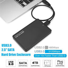 4TB USB 3.0 Portable External Hard Drive Case Slim SATA Storage Devices Box