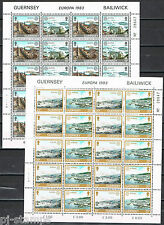 Guernsey vellen 265-268 Europa CEPT 1983 Grote werken menselijke geest CW 25